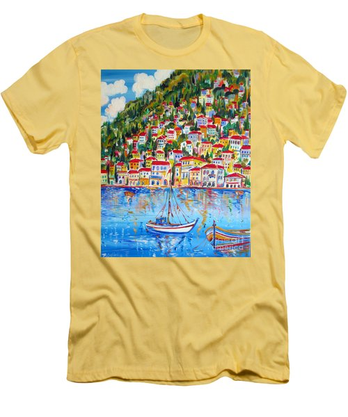 Boats Down South Italy Coast  Men's T-Shirt (Athletic Fit)
