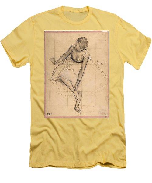 Dancer Adjusting Her Slipper Men's T-Shirt (Athletic Fit)