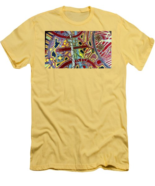 Men's T-Shirt (Slim Fit) featuring the painting  Edge Of The Universe by Jonathon Hansen
