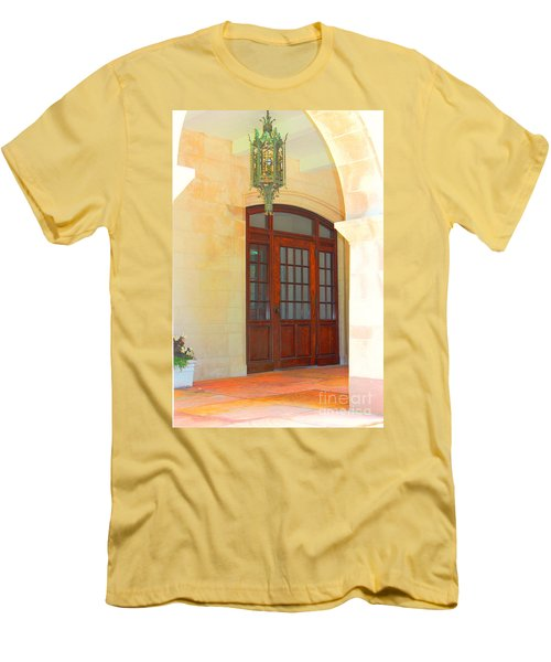Men's T-Shirt (Slim Fit) featuring the photograph  Elegant Arched Entrance by Judy Palkimas