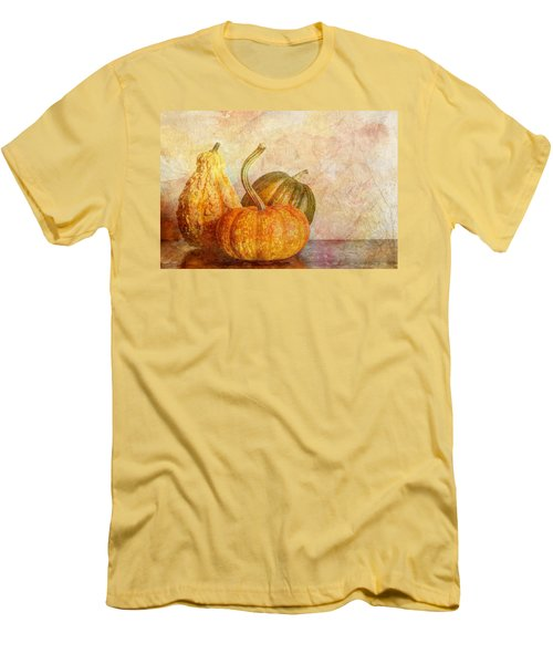 Gourd And Pumpkins II Men's T-Shirt (Slim Fit) by Heidi Smith