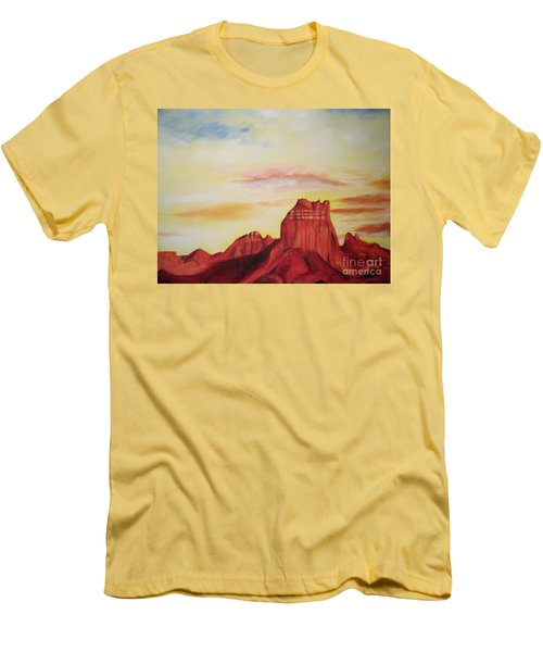 Men's T-Shirt (Slim Fit) featuring the painting  Sedona Az by Eric  Schiabor