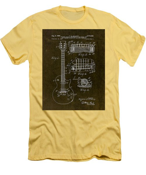1955 Gibson Les Paul Patent Drawing Men's T-Shirt (Slim Fit)