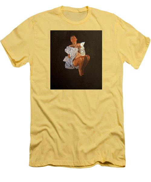 Men's T-Shirt (Slim Fit) featuring the painting 1 30 Am by Thu Nguyen