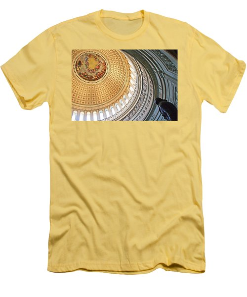 Men's T-Shirt (Slim Fit) featuring the photograph A Capitol Rotunda by Cora Wandel