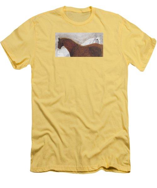 Best Friends Men's T-Shirt (Slim Fit) by Angela Davies