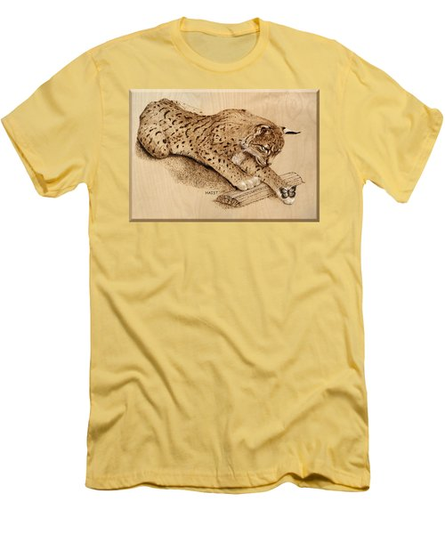 Bobcat And Friend Men's T-Shirt (Slim Fit) by Ron Haist