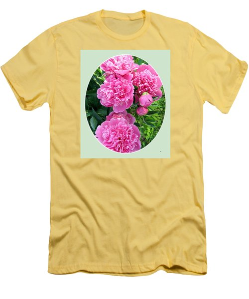 Country Peonies Men's T-Shirt (Athletic Fit)