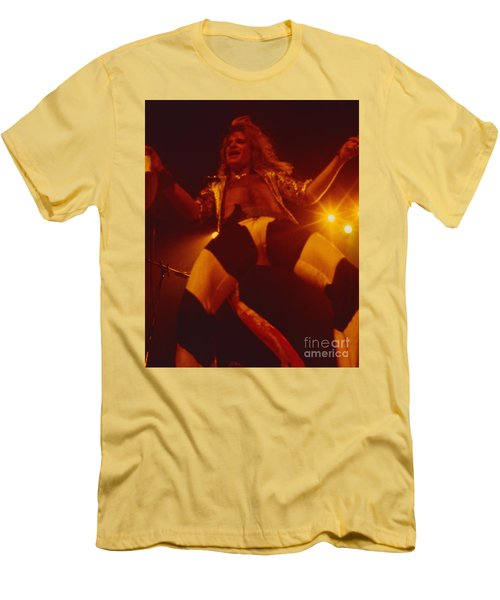 David Lee Roth - Van Halen At The Oakland Coliseum 12-2-1978 Rare Unreleased Men's T-Shirt (Athletic Fit)