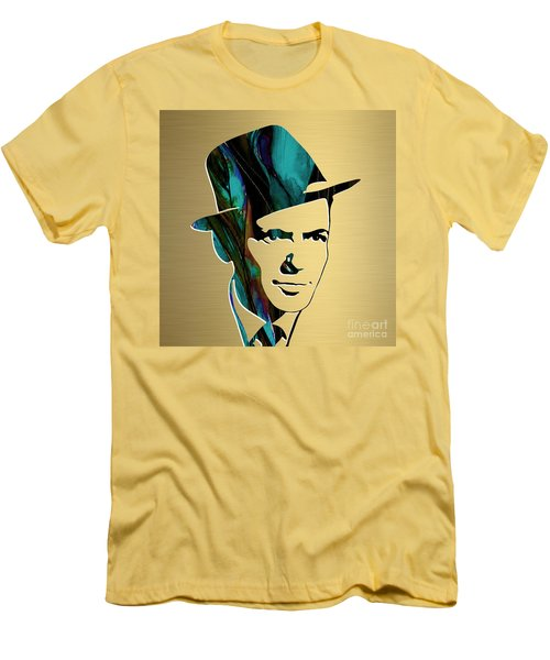 Frank Sinatra Gold Series Men's T-Shirt (Slim Fit) by Marvin Blaine