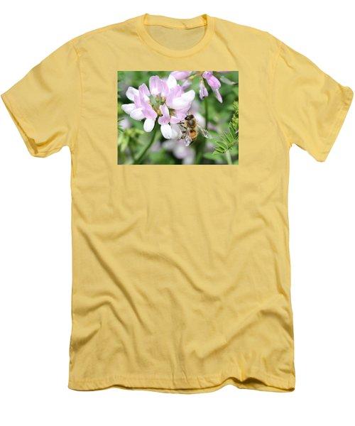 Honeybee On Crown Vetch Men's T-Shirt (Athletic Fit)