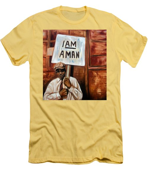 I Am A Man Men's T-Shirt (Athletic Fit)