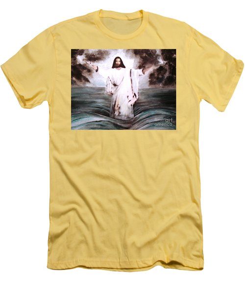 Men's T-Shirt (Slim Fit) featuring the painting I Am by Hazel Holland