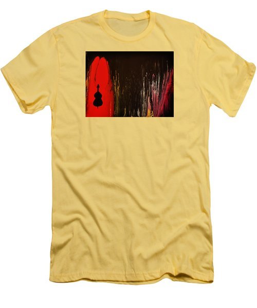 Men's T-Shirt (Slim Fit) featuring the painting Mingus by Michael Cross