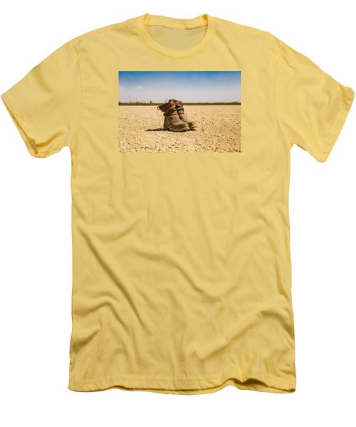 Muddy Work Boots Men's T-Shirt (Athletic Fit)