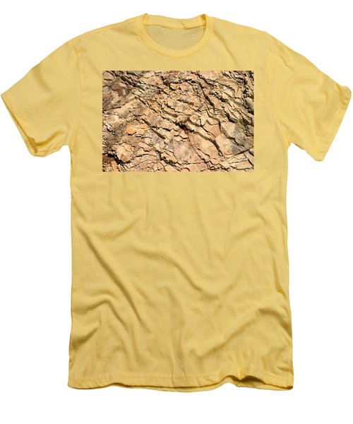 Men's T-Shirt (Slim Fit) featuring the photograph Rock Wall by Henrik Lehnerer