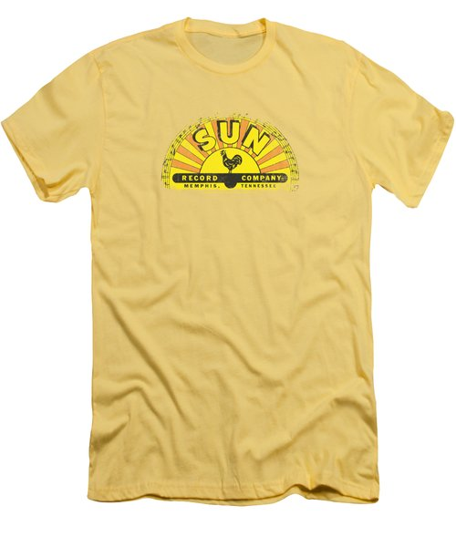 Sun - Vintage Logo Men's T-Shirt (Slim Fit) by Brand A