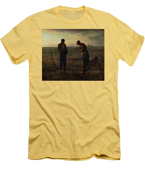 The Angelus Men's T-Shirt (Slim Fit) by Jean Francois Millet