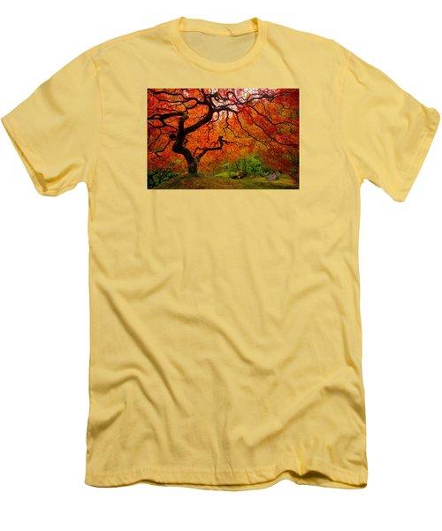 Tree Fire Men's T-Shirt (Slim Fit) by Darren  White
