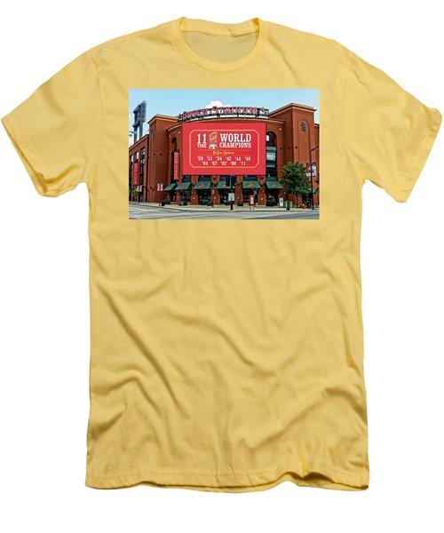 11 Time World Champion St Louis Cardnials Dsc01294 Men's T-Shirt (Slim Fit) by Greg Kluempers