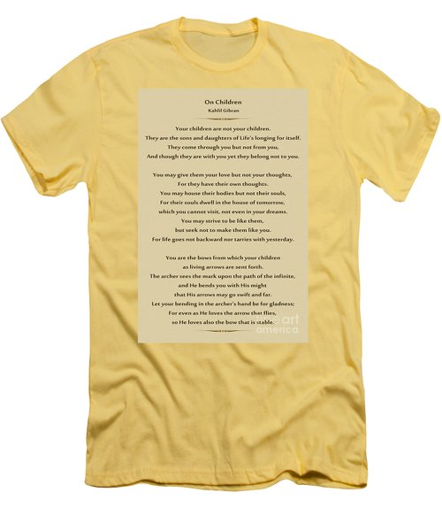 184- Kahlil Gibran - On Children Men's T-Shirt (Athletic Fit)