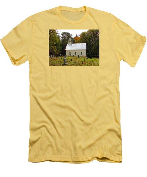 Cade's Cove 1902 Methodist Church Men's T-Shirt (Slim Fit) by Kathy Long