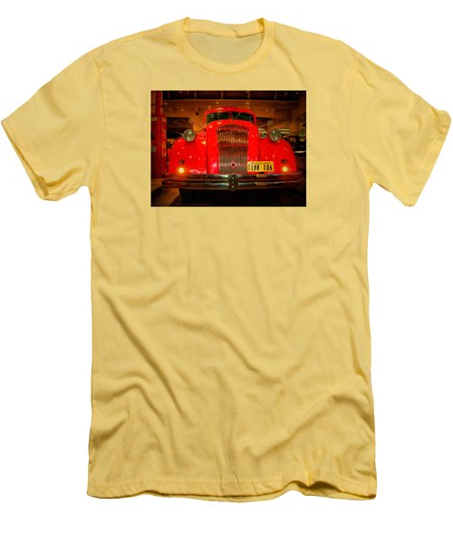 1939 World's Fair Fire Engine Men's T-Shirt (Slim Fit) by MJ Olsen