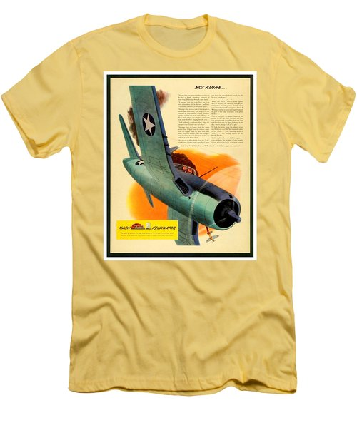 1943 - Nash Kelvinator Advertisement - Corsair - United States Navy - Color Men's T-Shirt (Athletic Fit)