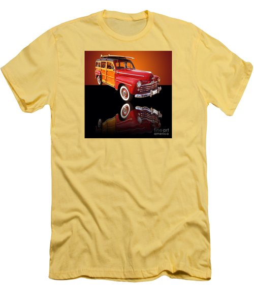 1947 Ford Woody Men's T-Shirt (Slim Fit) by Jim Carrell