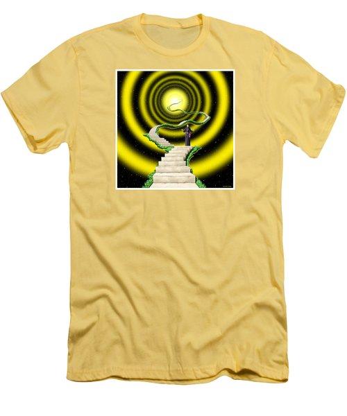 Men's T-Shirt (Slim Fit) featuring the digital art Ascension by Scott Ross