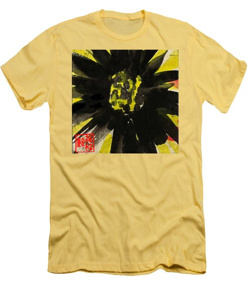 Men's T-Shirt (Athletic Fit) featuring the painting Asian Sunflower by Joan Reese