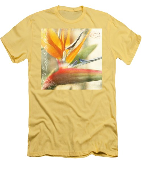 Bird Of Paradise - Strelitzea Reginae - Tropical Flowers Of Hawaii Men's T-Shirt (Athletic Fit)