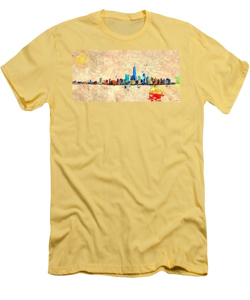 Nyc Grunge Men's T-Shirt (Slim Fit) by Daniel Janda