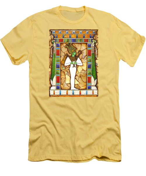 Men's T-Shirt (Slim Fit) featuring the painting Osiris by Joseph Sonday