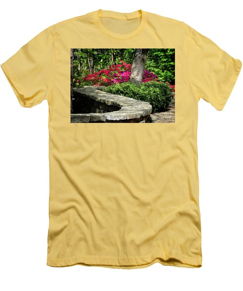 Men's T-Shirt (Slim Fit) featuring the photograph Stay On The Path by Nava Thompson