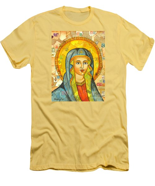 Men's T-Shirt (Slim Fit) featuring the painting The Virgin by Joseph Sonday
