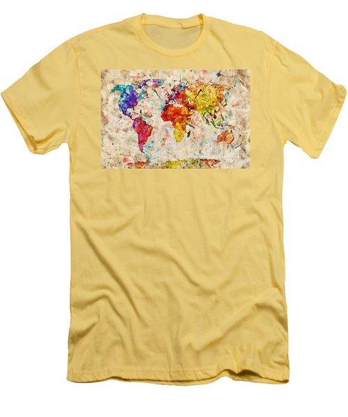 Vintage World Map Men's T-Shirt (Athletic Fit)