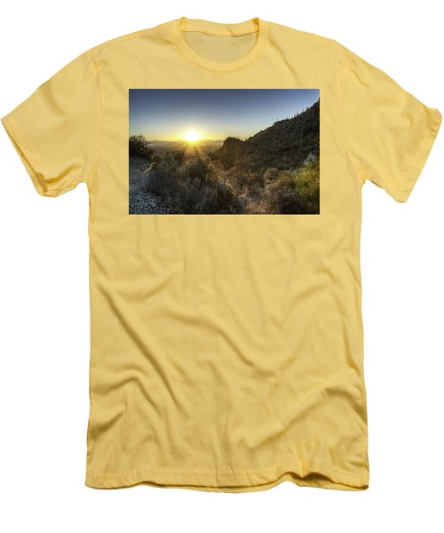 Men's T-Shirt (Slim Fit) featuring the photograph Winter Sunset by Lynn Geoffroy