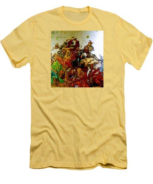 Battle Of Grunwald Men's T-Shirt (Slim Fit) by Henryk Gorecki