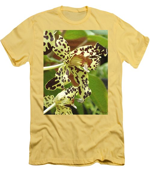Leopard Orchids Men's T-Shirt (Athletic Fit)