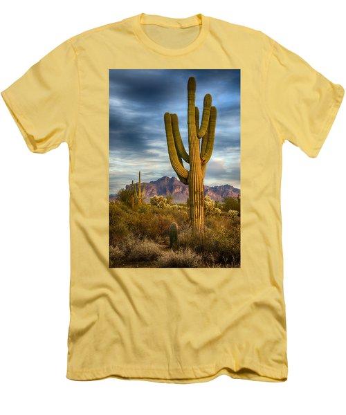 Standing Tall  Men's T-Shirt (Slim Fit) by Saija  Lehtonen