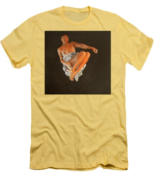 Men's T-Shirt (Slim Fit) featuring the painting 4 30 Am by Thu Nguyen