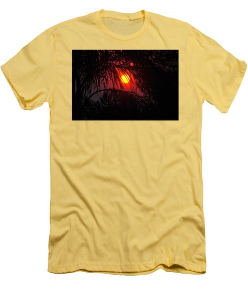 Fire In The Sky Men's T-Shirt (Slim Fit) by Jay Milo