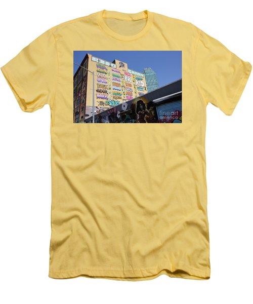 5 Pointz Graffiti Art 2 Men's T-Shirt (Slim Fit) by Allen Beatty