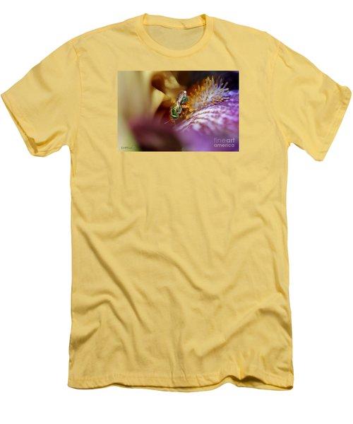Tall Bearded Iris Named Final Episode Men's T-Shirt (Slim Fit) by J McCombie