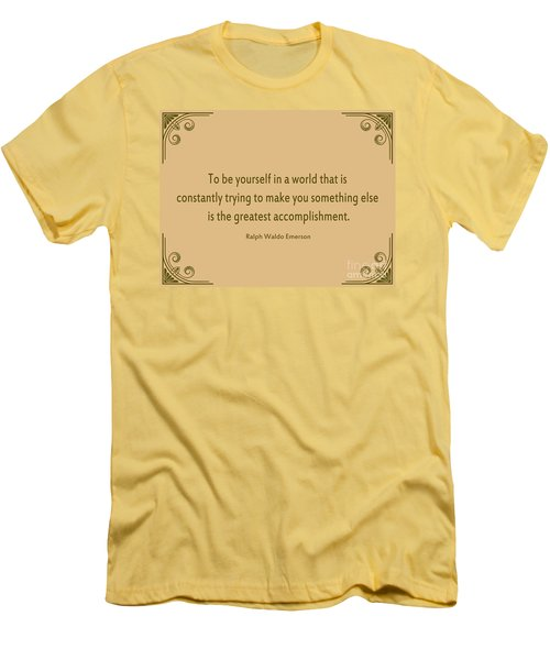 58- Ralph Waldo Emerson Men's T-Shirt (Athletic Fit)