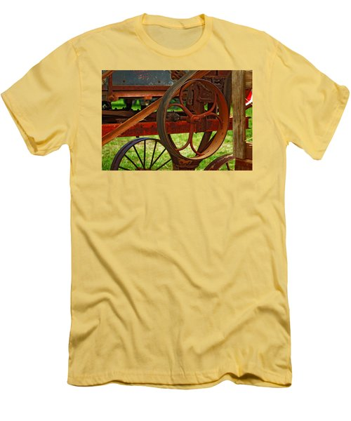 Men's T-Shirt (Slim Fit) featuring the photograph Wheels Of Time by Rowana Ray