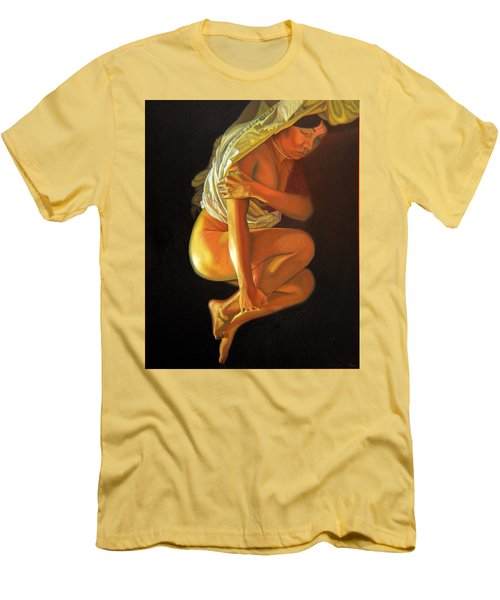 Men's T-Shirt (Slim Fit) featuring the painting 9 30 Am by Thu Nguyen