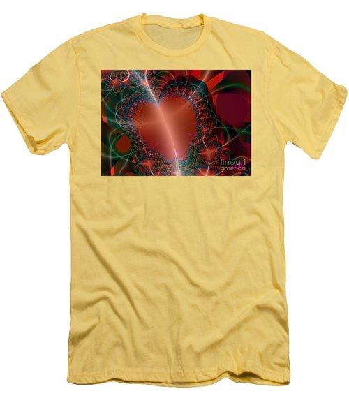 Men's T-Shirt (Slim Fit) featuring the digital art A Big Heart by Ester  Rogers