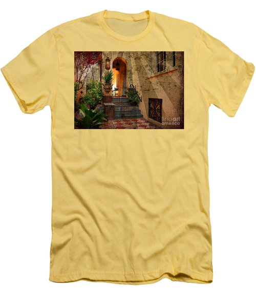 Men's T-Shirt (Slim Fit) featuring the photograph A Charleston Garden by Kathy Baccari